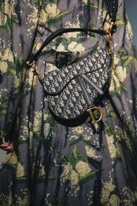 Dior Black Oblique Canvas Saddle Bag - Spring 2019