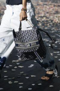 Dior Blue Oblique Canvas Backpack Bag - Spring 2019