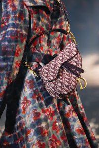 Dior Burgundy Oblique Canvas Saddle Bag - Spring 2019