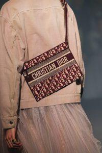 Dior Burgundy Oblique Canvas Small Messenger Bag - Spring 2019