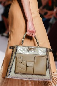 Fendi Beige PVC/Leather Peekaboo Defender Bag - Spring 2019