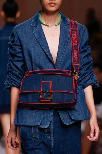 Fendi Blue Denim Baguette Bag - Spring 2019
