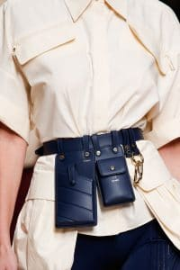 Fendi Blue Utility Belt Bag - Spring 2019