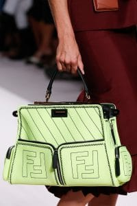 Fendi Light Green Peekaboo Defender Bag - Spring 2019