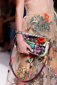 Fendi Multicolor Embellished Baguette Bag - Spring 2019