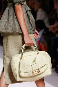 Fendi Off-White Embossed Baguette and Duffle Bags - Spring 2019