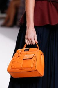 Fendi Orange Mini Peekaboo Bag - Spring 2019