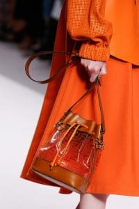 Fendi Orange PVC/Leather Mon Tresor Bucket Bag - Spring 2019