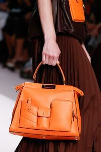 Fendi Orange Peekaboo Bag - Spring 2019
