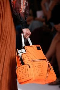 57bdaf89156 Fendi Orange Peekaboo Defender Bag - Spring 2019