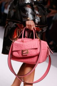 Fendi Pink Embossed Baguette and Duffle Bags - Spring 2019