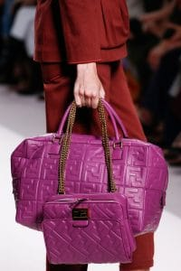Fendi Purple Embossed Shoulder and Duffle Bags - Spring 2019