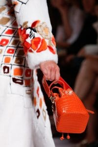 Fendi Red Crocodile Mon Tresor Bucket Bag - Spring 2019