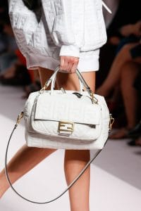 Fendi White Embossed Baguette and Duffle Bags - Spring 2019