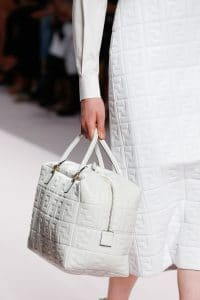Fendi White Embossed Duffle Bag - Spring 2019