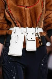 Fendi White Utility Belt Bag - Spring 2019
