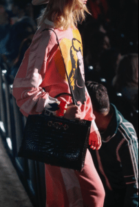 Gucci Black Crocodile Top Handle Bag - Spring 2019