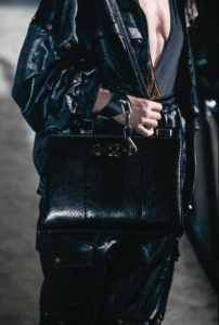Gucci Black Python Top Handle Bag - Spring 2019