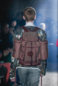 Gucci Burgundy GG Supreme Backpack Bag - Spring 2019