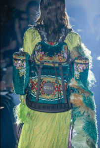 Gucci Green Floral Backpack Bag - Spring 2019