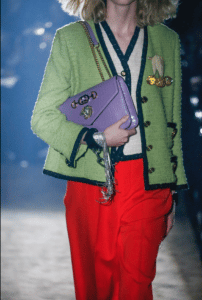Gucci Purple Crocodile Flap Bag - Spring 2019