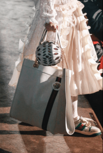Gucci White Tote and Embellished Mini Round Bags 2 - Spring 2019