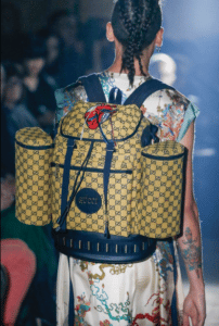 Gucci Yellow GG Supreme Backpack Bag - Spring 2019