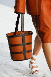 Hermes Brown/Orange Bucket Bag - Spring 2019
