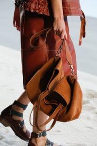 Hermes Gold Suede Tote Bag - Spring 2019