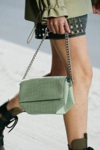 Hermes Mint Green Crocodile Opli Chain Bag - Spring 2019