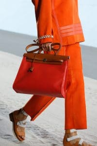Hermes Orange Herbag Bag - Spring 2019