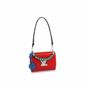 Louis Vuitton Coquelicot Epi Braided Handle Twist MM Bag