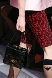 Prada Black Crocodile Shoulder Bag - Spring 2019