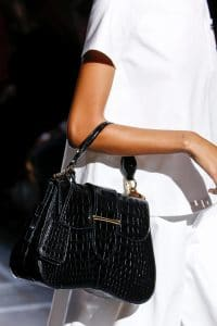 Prada Black Crocodile Sidonie Top Handle Bag - Spring 2019
