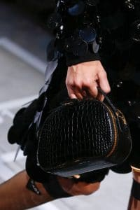Prada Black Crocodile Vanity Case Bag - Spring 2019
