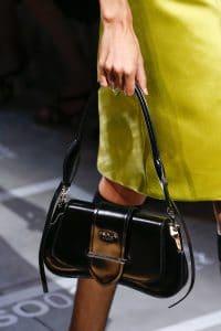 Prada Black Patent Sidonie Flap Bag - Spring 2019