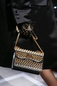 Prada Black Studded Flap Bag - Spring 2019