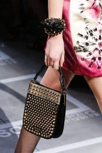 Prada Black Studded Mini Hobo Bag 2 - Spring 2019