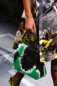 Prada Black/Green Sidonie Top Handle Bag - Spring 2019
