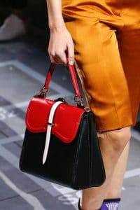 Prada Black/Red Boxy Large Top Handle Bag - Spring 2019