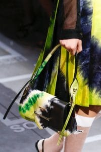 Prada Black/Yellow Sidonie Flap Bag - Spring 2019