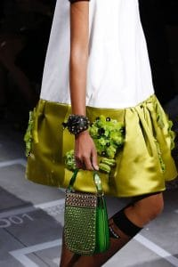 Prada Green Studded Mini Hobo Bag - Spring 2019