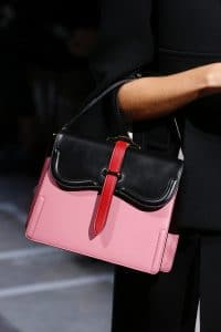 Prada Pink/Black Boxy Top Handle Bag - Spring 2019