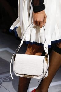 Prada White Crocodile Flap Bag - Spring 2019