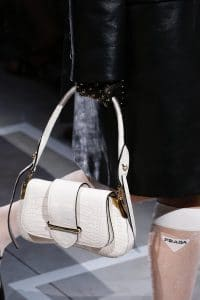 Prada White Crocodile Sidonie Flap Bag - Spring 2019