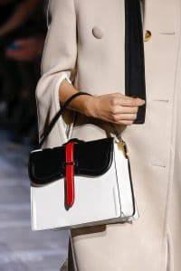 Prada White/Black Boxy Top Handle Bag - Spring 2019