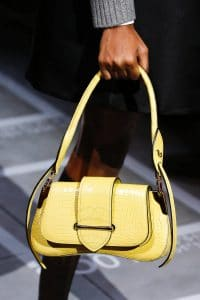 Prada Yellow Crocodile Sidonie Flap Bag - Spring 2019