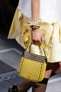 Prada Yellow Studded Mini Hobo Bag - Spring 2019