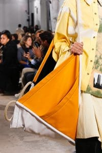 Proenza Schouler White/Yellow Oversized Tote Bag 2 - Spring 2019