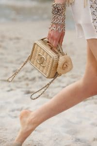 Chanel Beige Wicker Mini CC Filigree Vanity Bag - Spring 2019